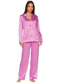 Ralph Lauren Satin Long Sleeve Notch Collar Pajama Set