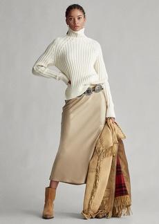 Ralph Lauren Satin Midi Skirt