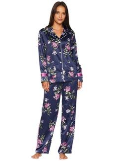 Ralph Lauren Satin Notch Collar Pajama Set