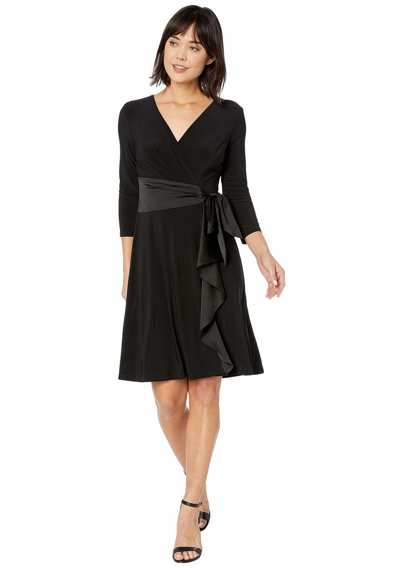 Ralph Lauren Satin-Ruffle Jersey Dress