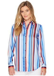 Ralph Lauren Satin Striped Woven Shirt