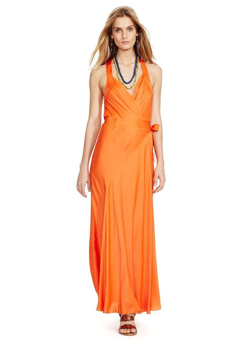 Ralph Lauren Satin Wrap Dress