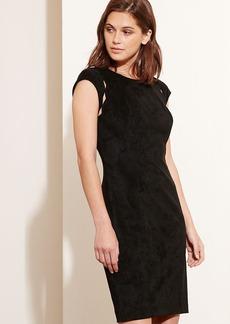 Scalloped-Cutout Dress
