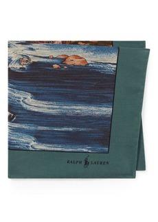 Ralph Lauren Scenic Silk Pocket Square