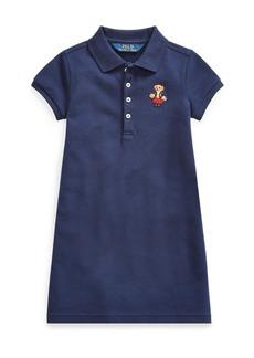 Ralph Lauren School Bear Mesh Polo Dress