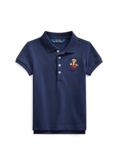 Ralph Lauren School Bear Stretch Mesh Polo