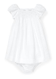 Ralph Lauren Seersucker Smocked Dress w/ Matching Bloomers  Size 6-24 Months