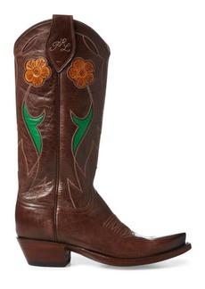 Ralph Lauren Selene Leather Cowboy Boot