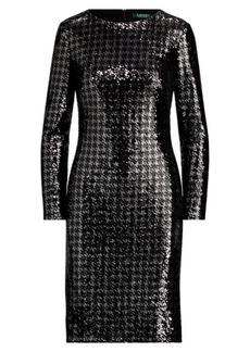 Ralph Lauren Sequined Houndstooth Dress