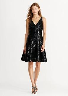 Ralph Lauren Sequined-Lace Dress
