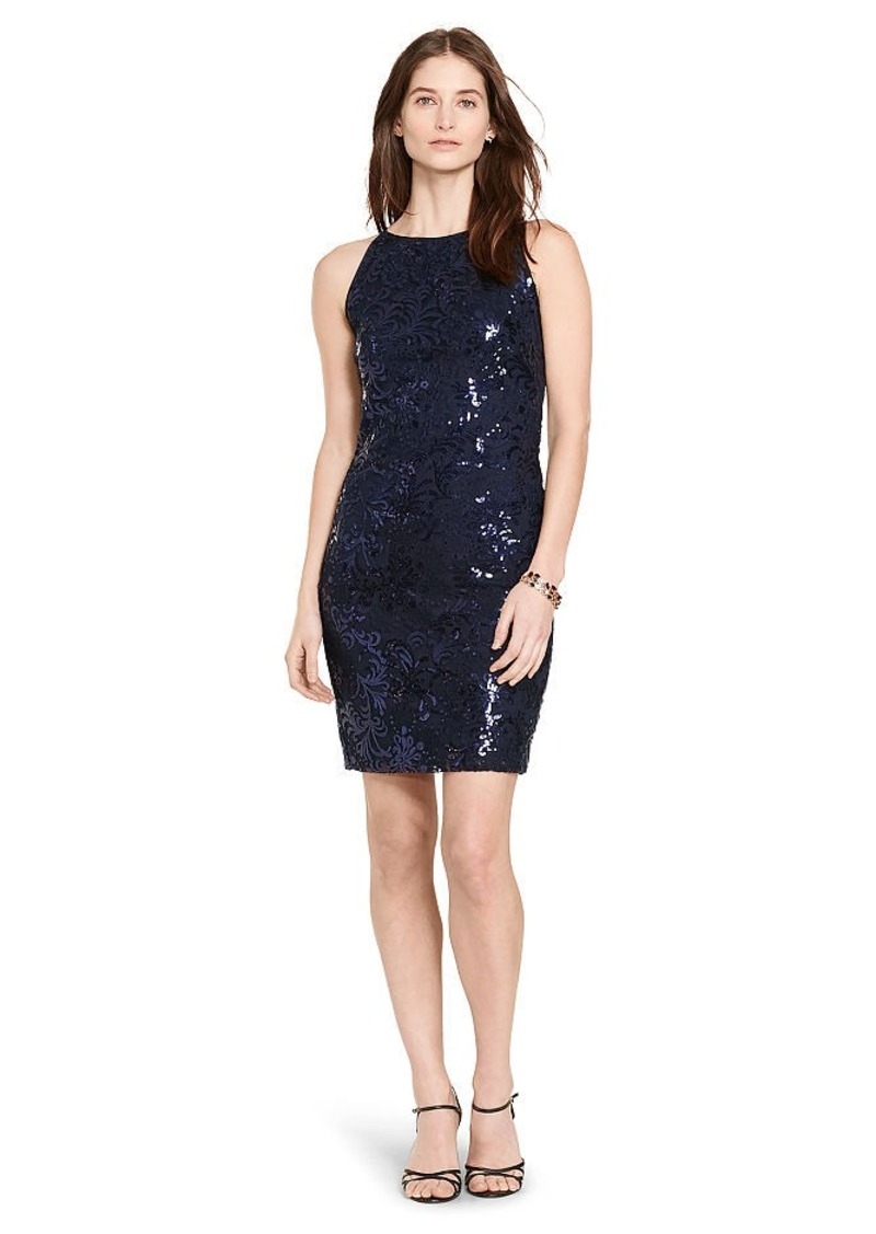 Ralph Lauren Sequined-Lace Sheath Dress