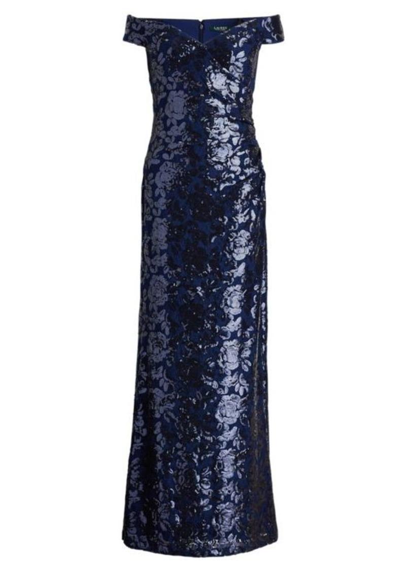 be84870f Ralph Lauren Sequined Off-the-Shoulder Gown | Dresses