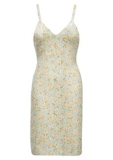 Ralph Lauren Sequined Silk Georgette Dress