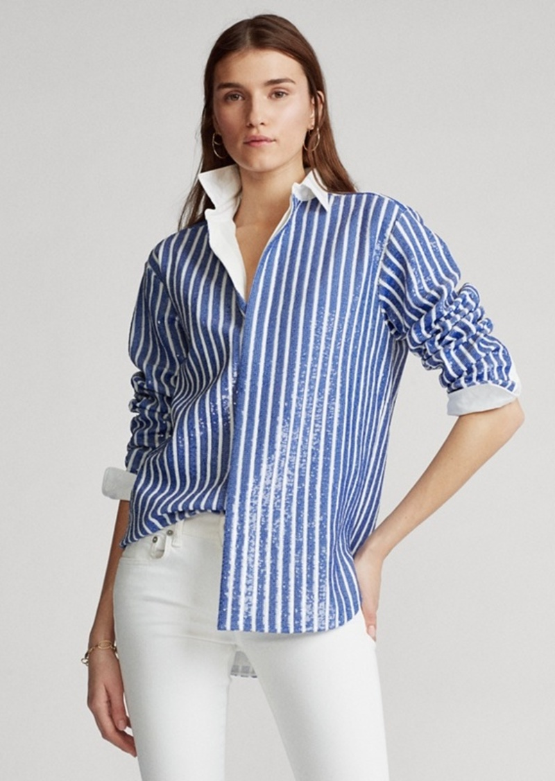 Ralph Lauren Sequined Stripe Shirt