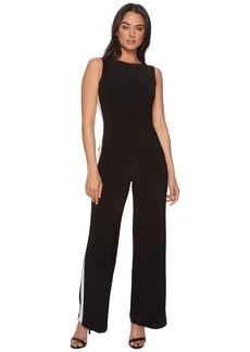 Ralph Lauren Shah Two-Tone Matte Jersey Jumpsuit