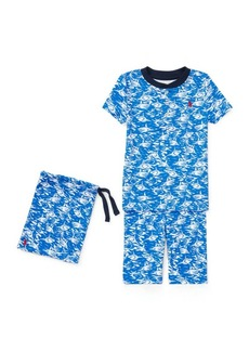 Ralph Lauren Shark Cotton Sleep Short Set