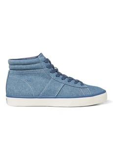 Ralph Lauren Shaw Chambray High-Top Sneaker