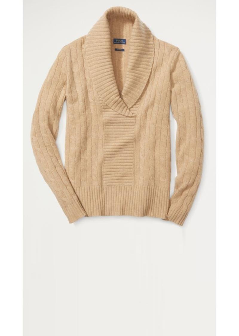 fa4198f66ac86 On Sale today! Ralph Lauren Shawl-Collar Cashmere Sweater