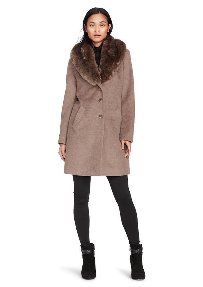 Ralph Lauren Shawl-Collar Wool-Blend Coat