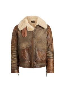 Ralph Lauren Shearling Bomber Jacket