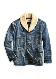 Ralph Lauren Shearling-Collar Denim Jacket