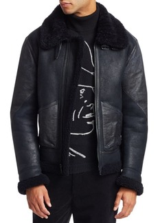 Ralph Lauren Shearling Leather Flight Jacket