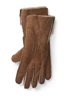 Ralph Lauren Shearling Side-Zip Gloves