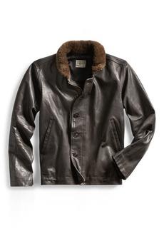 Ralph Lauren Shearling-Trim Leather Jacket