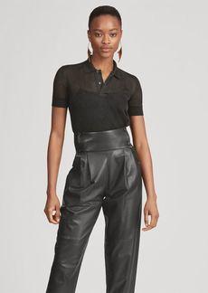 Ralph Lauren Sheer Short-Sleeve Polo Shirt