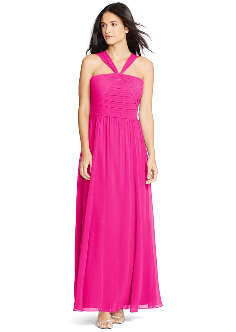 Ralph Lauren Shirred Georgette Gown