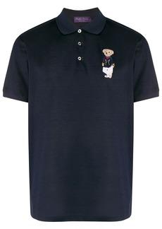 Ralph Lauren short sleeve bear patch polo shirt