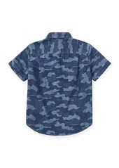 Ralph Lauren Short-Sleeve Button-Down Camo Shirt  Size 5-7