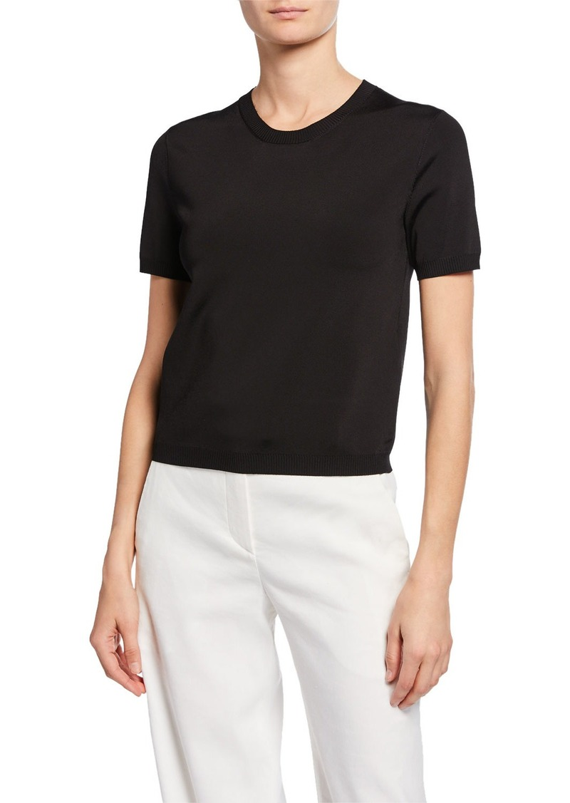 Ralph Lauren Short-Sleeve Crewneck Sweater