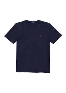 Ralph Lauren Short-Sleeve Jersey V-Neck T-Shirt  Size 4-7