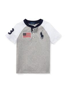 Ralph Lauren Short-Sleeve Logo Henley Tee