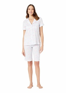 Ralph Lauren Short Sleeve Notch Collar Bermuda Pajama Set