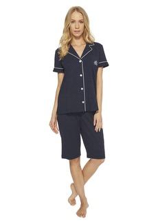 Ralph Lauren Short Sleeve Notch Collar Bermuda PJ Set