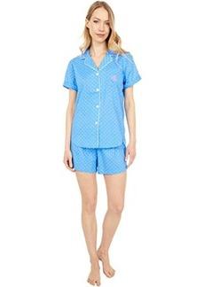 Ralph Lauren Short Sleeve Notch Collar Boxer PJ Set