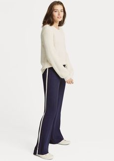 Ralph Lauren Side-Stripe Wide-Leg Pant
