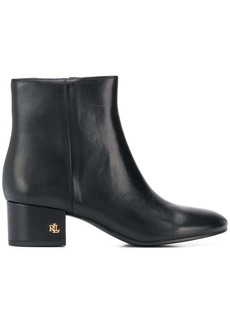 Ralph Lauren side zip ankle boots