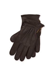 Ralph Lauren Side-Zip Deerskin Gloves