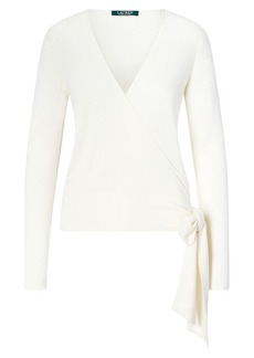 Ralph Lauren Silk-Blend Wrap Sweater