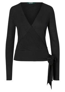 Ralph Lauren Silk-Blend Wrap Sweater