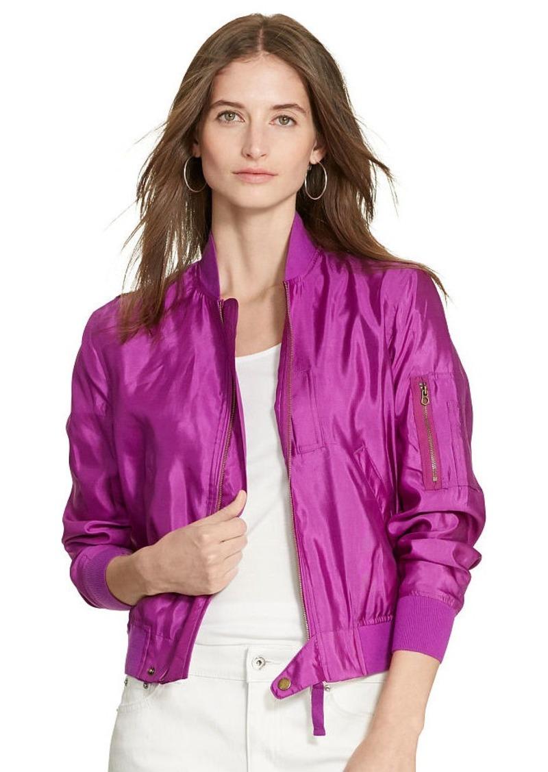 Ralph Lauren Silk Bomber Jacket