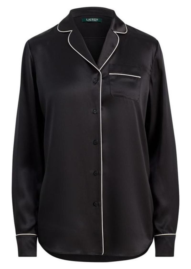 afc6cc2392 Ralph Lauren Silk Charmeuse Pajama Shirt