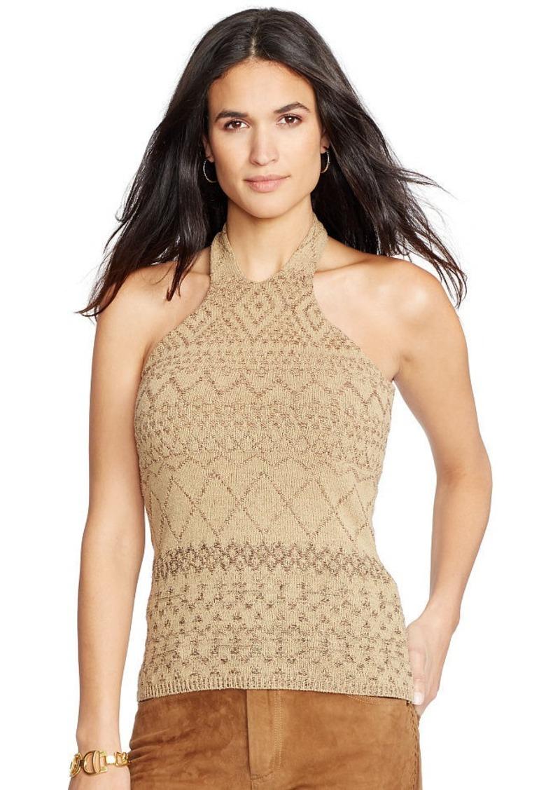 Ralph Lauren Silk-Linen Halter Sweater