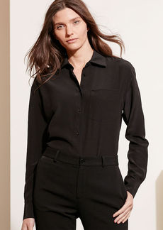 Ralph Lauren Silk Long-Sleeve Shirt