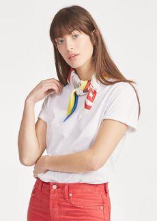 Ralph Lauren Silk-Neck-Scarf T-Shirt