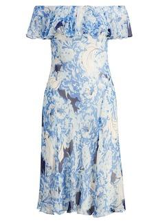 Ralph Lauren Silk Off-the-Shoulder Dress
