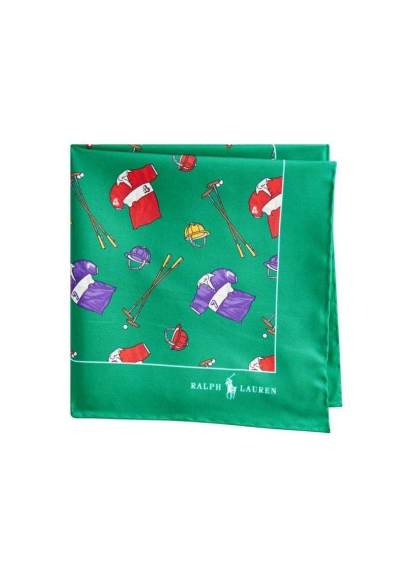 Ralph Lauren Silk Polo Prints Pocket Square